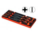 BAHCO T10 module 800 series screwdriver set, 9 pieces (800S/T10/9)
