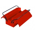Metal toolbox with 5 compartments 500x210x250mm