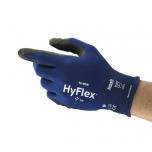 Apsauginės pirštinės Ansell HyFlex 11-816, 9 dydis,  itin plonos, nailonas, spandex. Nitrilo putų delno padengimas