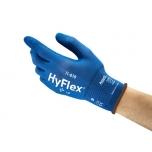 Apsauginės pirštinės Ansell HyFlex 11-818 VENDING PACK, 9 dydis,  itin plonos, nailonas, spandex. Nitrilo putų delno padengimas.