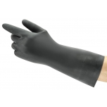 Safety chemical gloves Ansell AlphaTec Neoprene 29-500, length 300mm, black, size 11