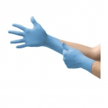 Disposable nitrile gloves Ansell EDGE 82-134, 100 pcs, 0,07mm thick, size M (7,5-8), textured fingers, SKY BLUE
