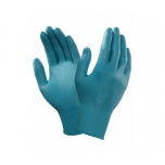 Disposable nitrile gloves Ansell TouchNTuff 92-600, 100 pcs, 0,12mm thick, size L (8,5-9), smooth palm, green