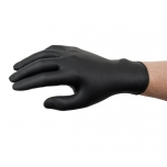 Disposable nitrile gloves Ansell MICROFLEX 93-852, 100 pcs, 0,12mm thick, size S (6,5-7), textured palm, non-foaming formula, black