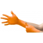 Disposable nitrile gloves Ansell MICROFLEX 93-856, 100 pcs, 0,12mm thick, 275mm long, size L (8,5-9), textured fingers, ORANGE