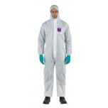 Disposable coverall Type 5/6 Ansell Alphatec 1500, white, size L