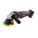 "Cordless orbital polisher 18V, 4.7mm, 1100/3500rpm. Included - 5"" Velcro holder + sponge and wool bonnet"