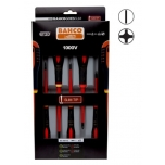 Insulated screwdriver set ERGO™ slim 5 pcs - PH1/2; SL3,0/4,0/5,5 - 1000V VDE
