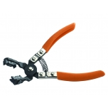 Hose clamp plier 45º angled with rotating jaws 280mm