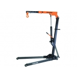 Foldable crane max 1T, foldable body on wheels and 4 fixed positions of the lifting arm: 1000, 750, 500 and 250 kg