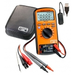 Digital multimeter AC and DC up to 1000 V ; class 600 V-CATIV ja 1000 V-CATIII ; temp: -55C° to + 1000°C ; RMS ; NCV