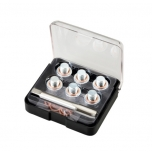 Oil drain plug restorer set. M13*1.5 hand tap, 6 plugs, 12 copper washers