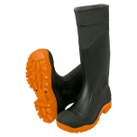 Black rubber work boots with non-slip sole, height 40cm size 46,5 Truper 17916