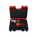 Air hammer kit with 5 chisels