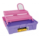 "Pink organizer box 14"" with mirror Pretul 25052"