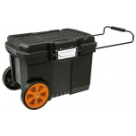 Industrial plastic tool box with wheels 57L Truper 10902