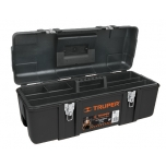 Industrial plastic tool box with steel latches, 584x267x254 Truper 11506