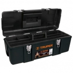 Industrial plastic tool box with steel latches, 660x267x254 Truper 19882
