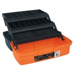 Tackle box 410x220x210mm orange Truper 10539