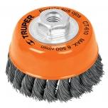 Twist wire brush cup for grinder 0,5mm Ø76mm M14 17530