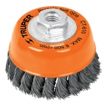 Twist wire brush cup for grinder 0,35mm Ø127mm 11544