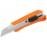 Retractable knife plastic CUT-6 with 3pcs 18mm blades 16974
