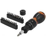 Ratchet mini screwdriver with 22 bits 17846