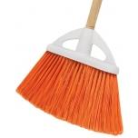 Multipurpose broom 23cm with PVC bristles. Wooden handle 120cm Klintek 57051