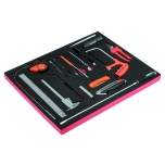 Tool set (knives, hacksaw, mirror, measuring tape, scriber, flex tools. etc) 18pcs in a foam