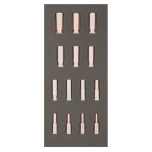 "3/8"" deep sockets set 14pcs Fit&go 1/3 - 6-19mm"