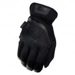 Moteriškos pirštinės Mechanix FastFit® Women, juodos, L dydis. Rauktas rankogalis, 0.6 mm dirbtinė oda, TrekDry®, touchscreen technologija