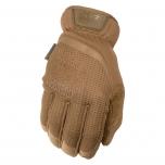 Pirštinės Mechanix FastFit® Coyote, 10/L dydis. Rauktas rankogalis, 0.6 mm dirbtinė oda, TrekDry®, touchscreen technologija