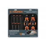 Mini screwdriver and plier, set, 10 pcs 18200
