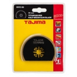 Multitool HSS saw blade titanium coated, half-moon 80mm. For wood, plastic and metal