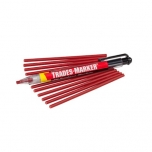 General purpose marker Markal Trades-Marker Starter Pack, red (holder+12 refils)
