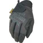 Pirštinės Mechanix Specialty Grip juodos/pilkos 8/S dydis. Velcro, gumuotas delnas, Trek Dry