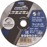 Cutting disc Norton Blue Fire A60 T41 - 76x1x10mm