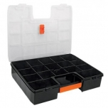 Organizer box with 17 compartments and extra latch 430x320x90mm Truper 19939