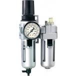 "Air filter, lubricator and regulator 0,5-10bar 1/2"" max 3200 l/min Irimo"