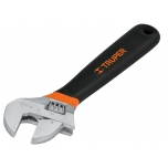 Adjustable wrench 150mm chrome plated, non-slip grip, max 19mm, Truper 15509