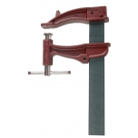 Clamp XXL 220cm, with sliding T-handle, jaw depth 19cm, max 22000N