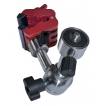 "Multi-Prop clamp with adjustable joint for cameras and lasers with 1/4""-3/8""-5/8"""
