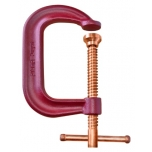 C-clamp with copper plated spindle, 10cm