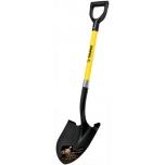 Round point shovel 22x51cm, glassfiber shaft, plastic D-handle, 102cm, Truper 17150