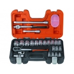 "Hex socket set 10-32mm 1/2"" 24pcs"