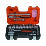 "Inch sizes socket set 3/8""-1.1/4"" drive 1/2"" 23 pcs"