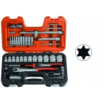 "Socket set 1/4""+1/2"" 56pcs"