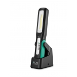 Work light 500lm LED, rechargeable, heavy duty, straight folding type, with charging base, IP65