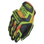 Gloves MECHANIX Hi-Viz M-Pact® E5 yellow 11/XL, level E5 Cut protection palm, touchscreen capable