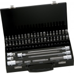 Bit set 49 pcs XZN, Torx, Hex, 30mm, 75mm and 200mm with adapter 10mm drive, in metal box Irimo